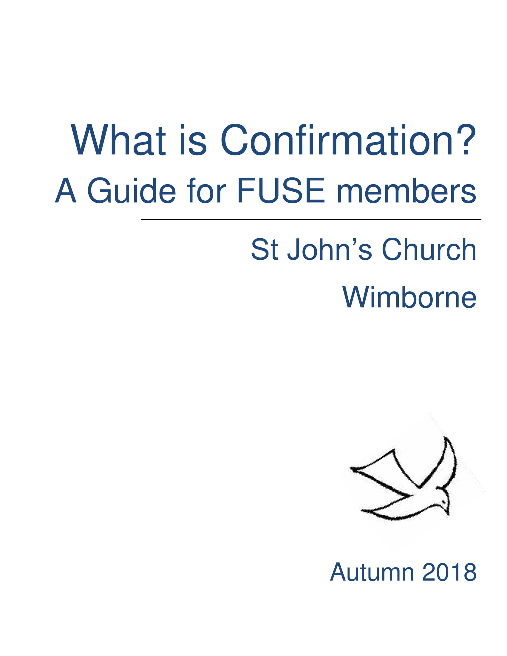 What is Confirmation? A Guide for FUSE Members pdf icon